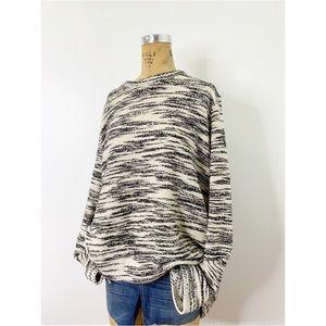 Lou&Grey Marled Back ZipperOversize Jumper Sweater